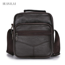 HUANILAI Messenger Bags For Men Shoulder Cowhide Crossbody Genuine Leather High Capacity Handbags TY003