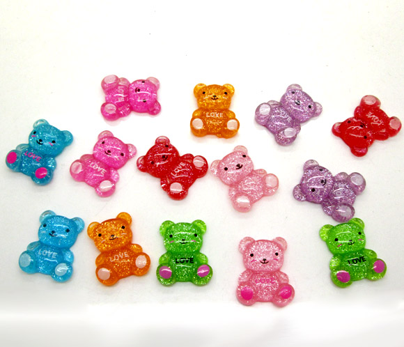 50 шт. смешанный резиновый медведи украшения ремесла объемные с плоским дном для скрапбукинга украшения Бусины Diy интимные аксессуары