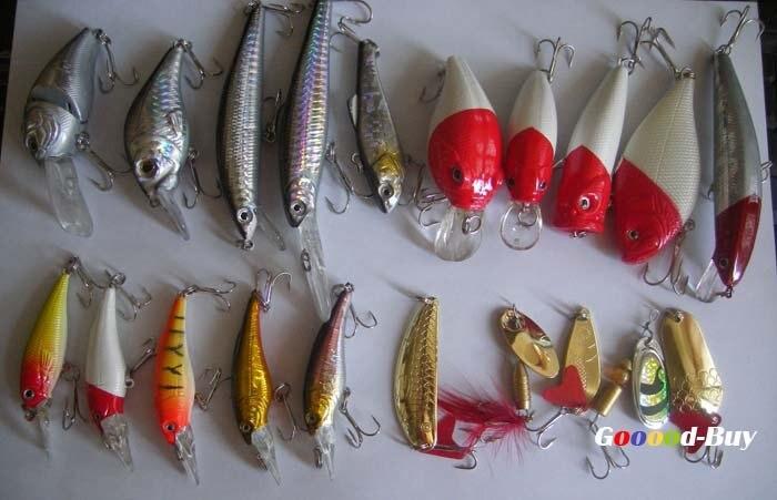 20 шт. рыболовные приманки Поппер блесны-дорожки/снасти крючок оптовик набор, 20 шт./партия