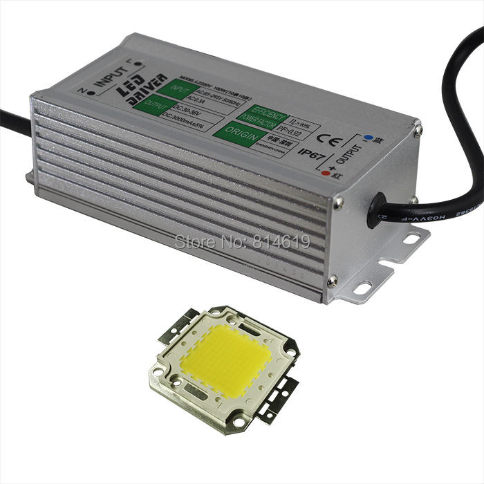 LED Beads/ Chips + power supply  100W  White/Warm white Beads chip  AC85-265V / DC fn2080 6 07 filters beads and chips mr li