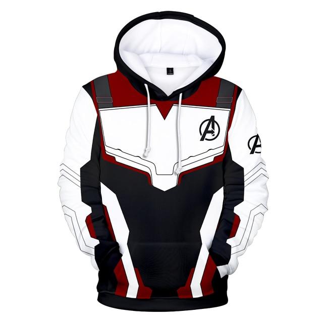 Avengers Endgame Quantum Realm Sweatshirt with hooded Advanced Tech Hoodie Cosplay Costumes 2019 new superhero Iron Man Hoodies 2