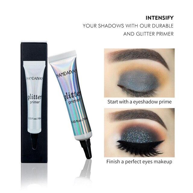 HANDAIYAN 2pc Glitter Primer Sequined Eye Primer Eye Makeup Cream Waterproof Sequin Glitter Eyeshadow Glue Korean CosmeticsTSLM1 2
