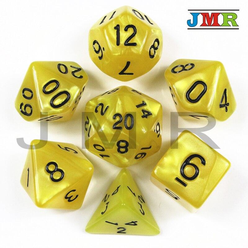 Фирменная Новинка 7PCS-die перламутровые кости набор D4, d6, d8, d10, d %, d12, d20 игро ...