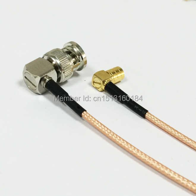 """Modem Koaksiyel Pigtail BNC Erkek Dik Açı Konektörü Anahtarı SMB Dişi Dik Açı Konektörü RG316 Kablo 15 CM 6"""" adaptörü"""