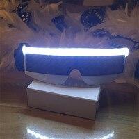 הכי חדש LED זוהר מהבהב משקפי שמש משקפיים מצחיקים מסיבת תחפושות חג מולד ליל כל הקדושים מסכת Led באני