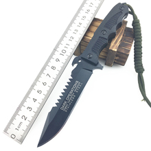 Top Outdoor Camping Survival Wood Cutter Knife 5cr15mov Blade Straight Tactical Knife 59-61HRC Multifunctional Army Knife