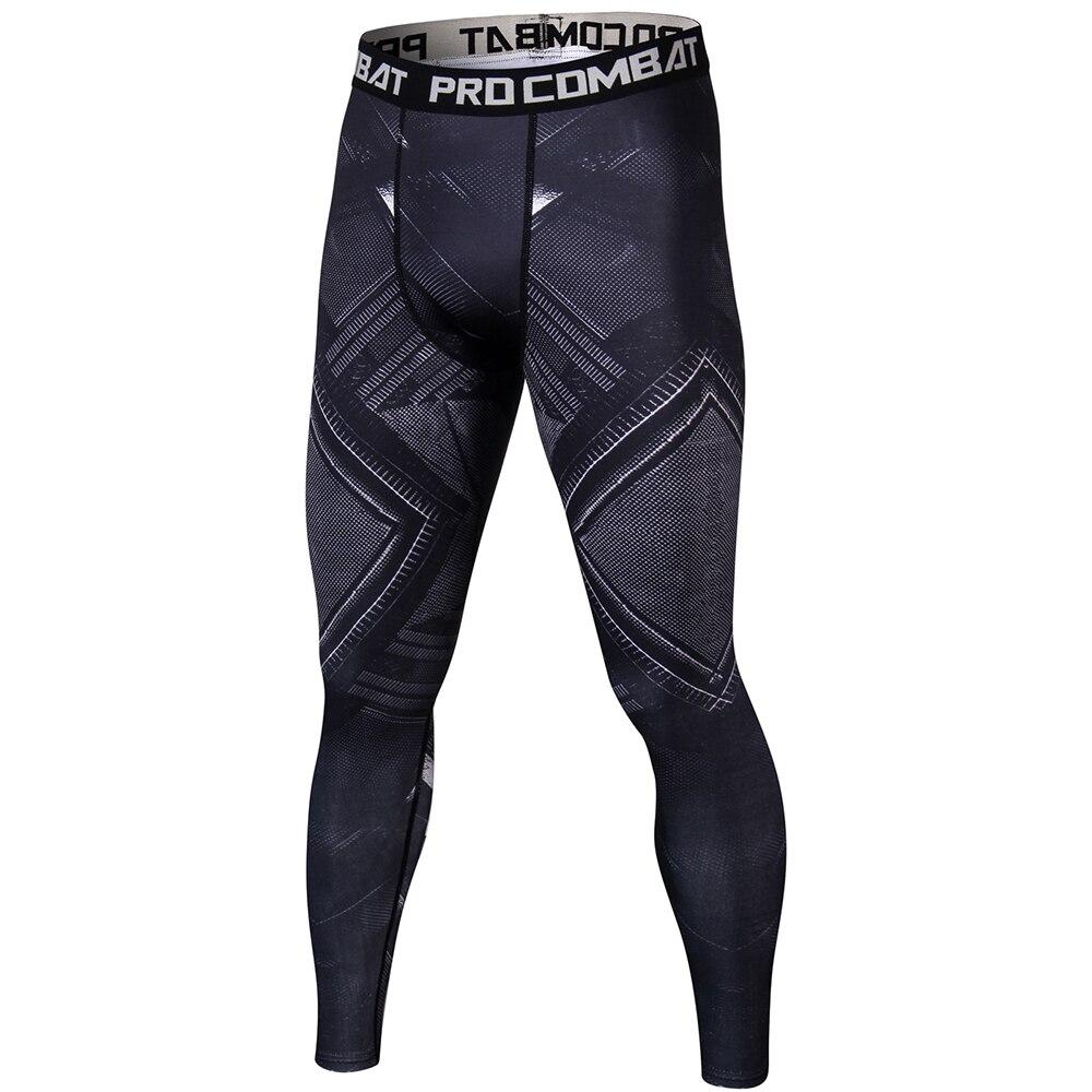 Black Panther 3D Impresso Leggings Padrão Homens crossfit Aptidão Compressão Calças Justas Nova Sweatpants Magras Calças Masculinas