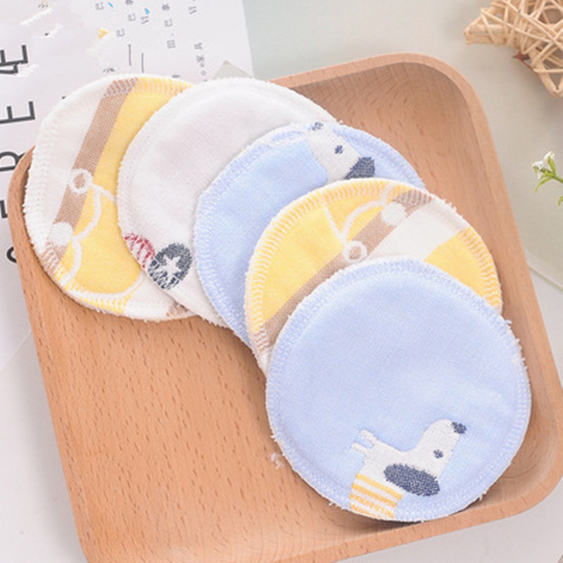 10Pcs Reusable Breast Pad Nursing Pads For Mum Washable Waterproof Pregnant 9cm,12 Layers Of Gauze Material Cotton