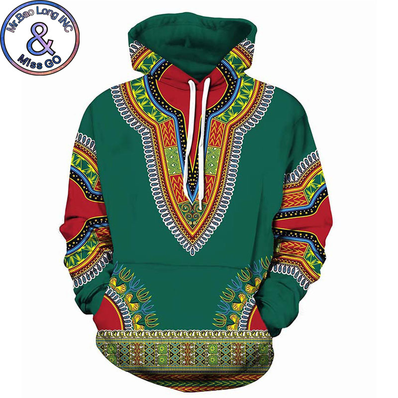 African Dashiki Print Hoodie Sweatshirt Men Women Spring Autumn 3D Hoodies Men Hip Hop Streetwear Hooded Sweatshirts Moletom 5XL