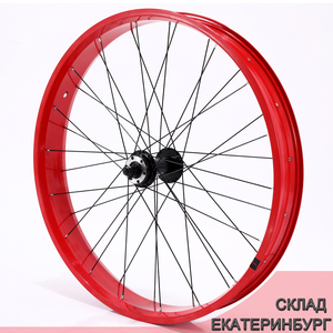 Image 1 - CASDONA bicycle mountain bike fat bikes Bicycle Accessories Bicycles aluminum alloy wheel 26 inch  snow wheel size cm wide side