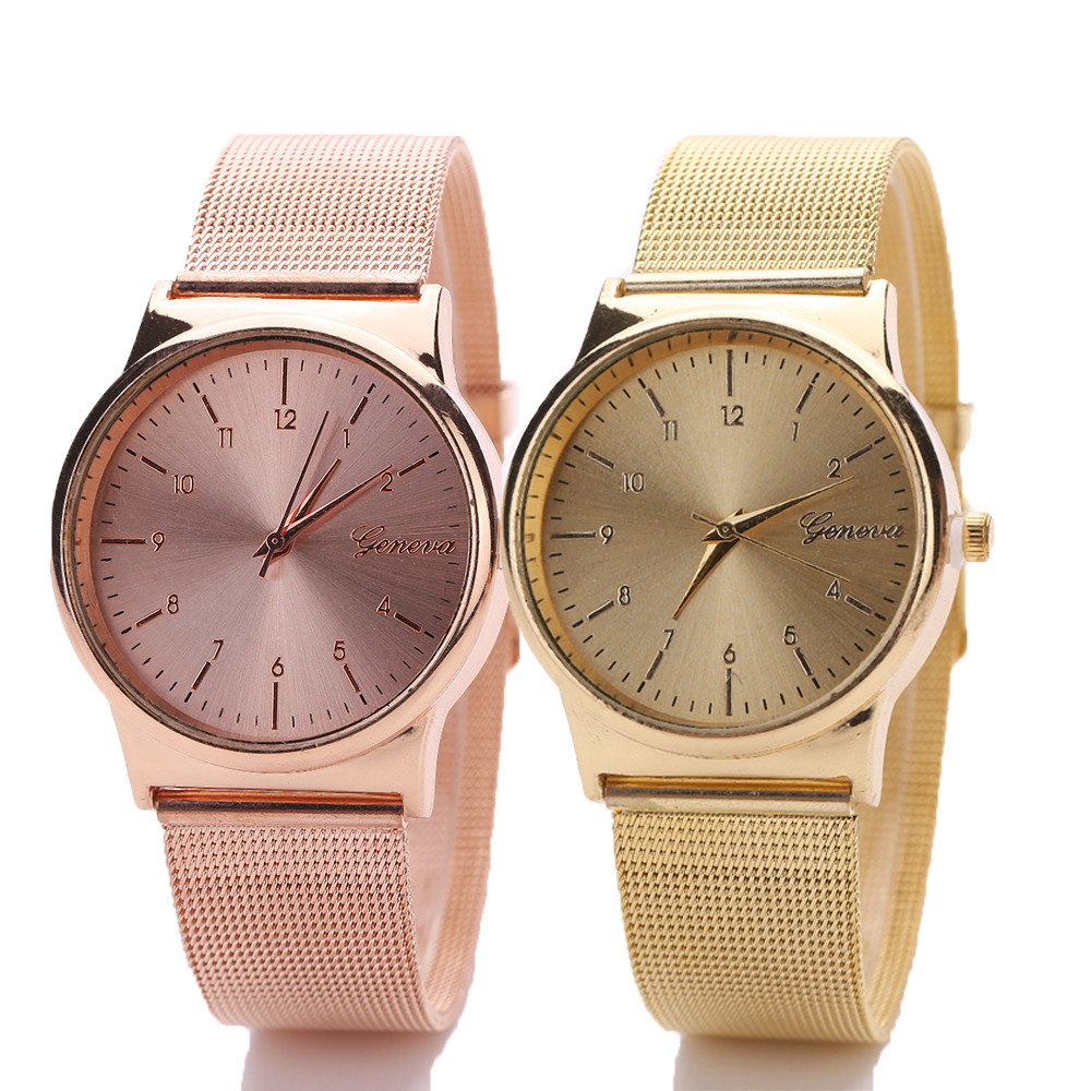 watches women Fashion Womens Classic Gold Quartz Stainless Steel Wrist Watch women quartz watch wristwatch dignity F.6 2016 new ladies fashion watches decorative grape no word design gold watch stainless steel women casual wrist watch fd0107