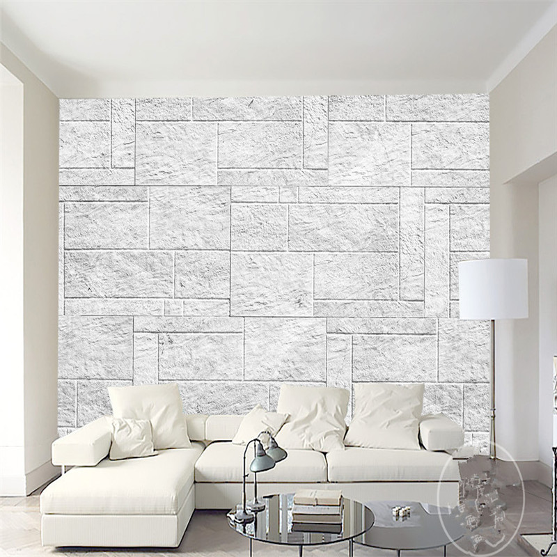 Brick Stone Wallpapers Vintage Light Grey Custom Photo Wallpapers Murals Bedroom Wall Papers for Wall 3D Home Decor Living Room spiderman kids bedroom wallpaper roll large size photo wall murals 3d mural wallpapers for living room home decor custom