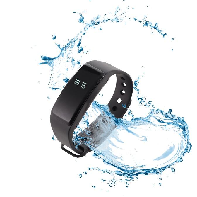 ip67 waterproof sports bluetooth bracelet fitness wrist band time display free shipping