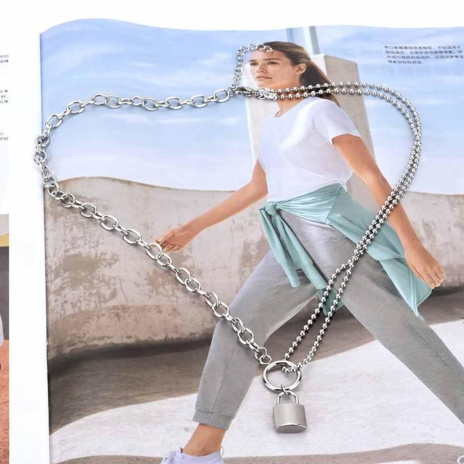 WOWTIGER kobieta ze stali nierdzewnej srebrny kolor kłódka wisiorek naszyjnik wysokiej jakości marka urodziny party prezent naszyjnik kobiety