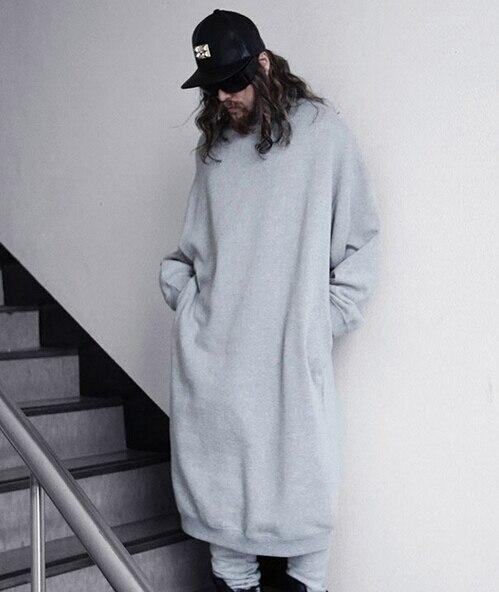 Fashion Mens Superb Extra Lange Sweatshirts Merk Katoen Losse Casual  Extended Sudaderas Hombre Moleton Masculino 2017 Herfst in Fashion Mens  Superb Extra ... a17c59fe375