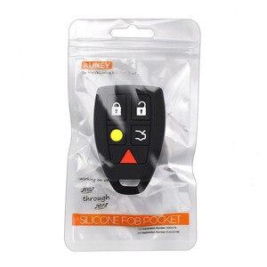 Image 5 - Coque de protection pour clé télécommande, sans clé, en peau, pour Volvo C30, C70, S40, V50 housse de clefs en Silicone 2004, 2007 Fob