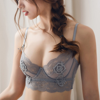New Ultra Thin Cup Lingerie Bra Set Underwear Transparent Temptation Sexy Underwear Set For Women High Waist Bra & Brief Set 3