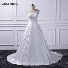 e1b6432a633e1 Seksi Backless Gelinlik 2018 Şapel Tren Gelin Önlükler Fildişi Saten  vestido noiva princesa