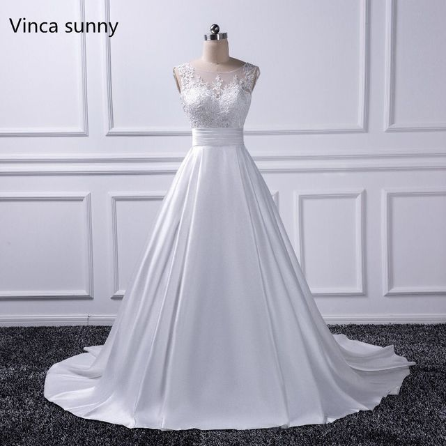 Sexy backless wedding dresses 2018 chapel train bridal gowns ivory sexy backless wedding dresses 2018 chapel train bridal gowns ivory satin vestido noiva princesa junglespirit Image collections