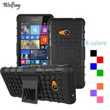 Wolfsay для чехол Lumia 535 чехол N535 Ударопрочный силиконовый мешок для чехол Lumia 535 для Microsoft Lumia 535 чехол телефона Coque