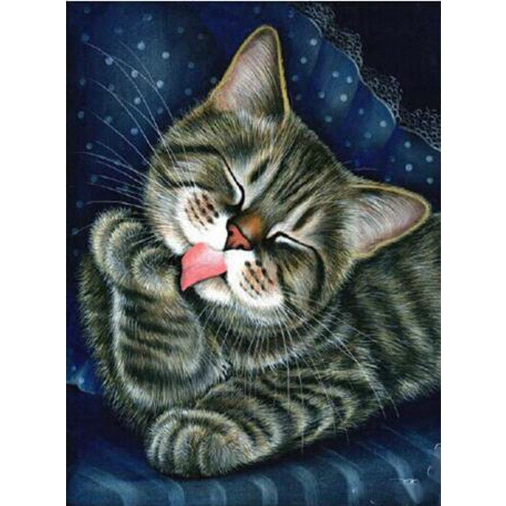 Открытка доброй ночи с котом