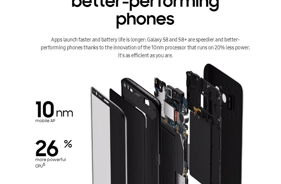 Original Samsung Galaxy S8+ S8 plus  6.2'' 12.0MP 4G RAM 64G ROM 4G LTE Octa c 4g+64g(single sim) 11