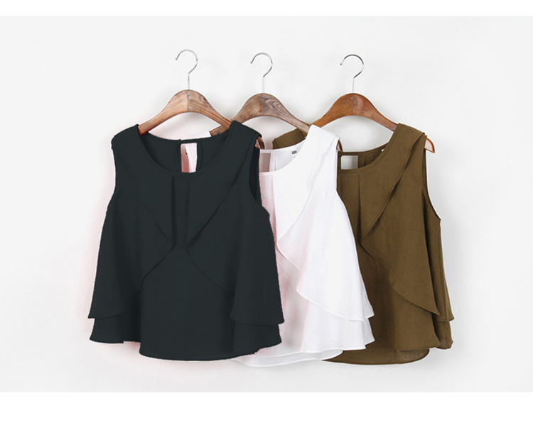 2018 Sleeveless Arrival Solid 23