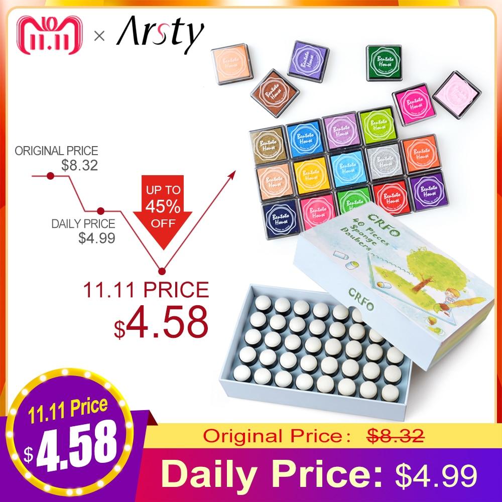купить ELERA Sponge Finger Daubers Foam With Box Finger Painting Craft Set Finger Paint Drawing Sponge Foam Finger Chalk Ink недорого