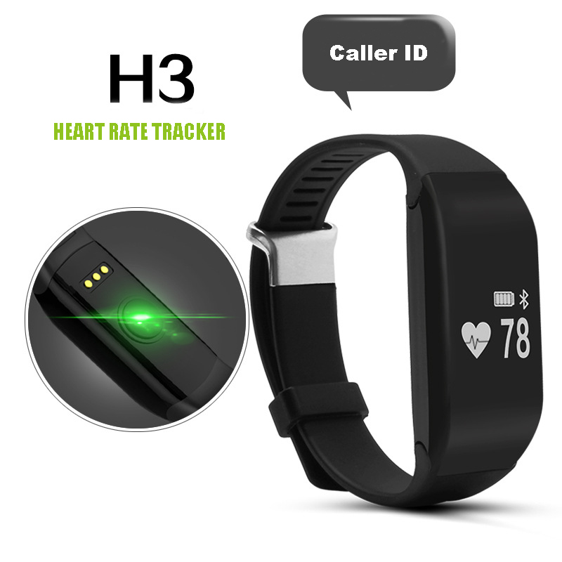 New H3 Waterproof Heart Rate Smartband  Fitness Sleep Tracker Passometer IOS And