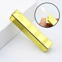 Роскошная компактная струйная газовая зажигалка 999 золотого