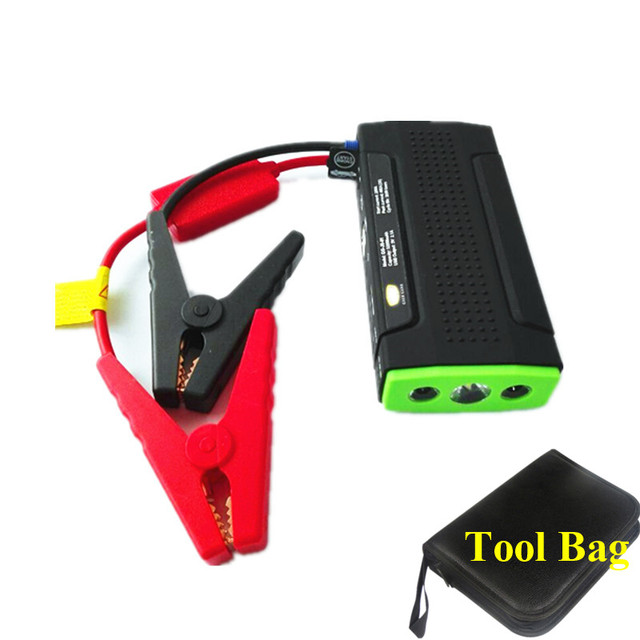 Mini Emergency 9900mAh 12V Petrol Diesel Car Jump Starter 400A Peak Auto EPS 2USB Phone Laptops Power Bank SOS Lights Free Ship