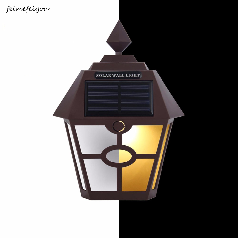 Led Lamps Feimeifeiyou Sun Powered Outdoor Patio Deck Yard Lamps Light Sensor Auto On/off Brown/black White/warm White For Garden Fench