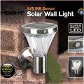 Alta Quality13 Led Super Brilhante Movido A Energia Solar Ao Ar Livre de Aço Inoxidável Escadas Eficiente Luz Da Lâmpada Lâmpada de Parede Da Porta de Entrada