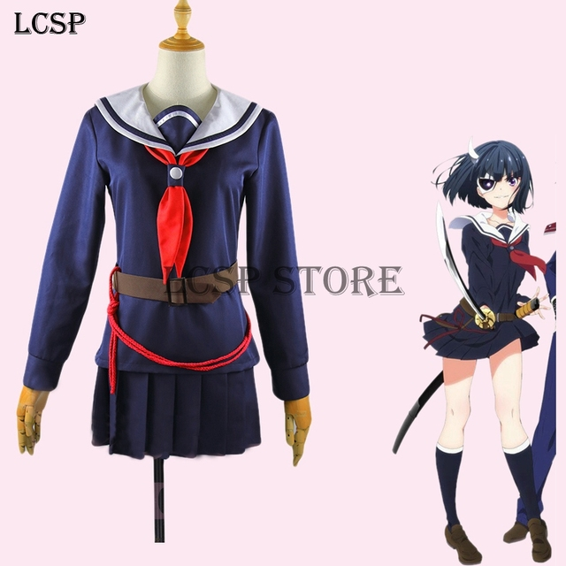 LCSP Machiavellism Rin Onigawara Cosplay Costume Japanese Anime Audlt  Sailor Uniform Suit Outfit Clothes