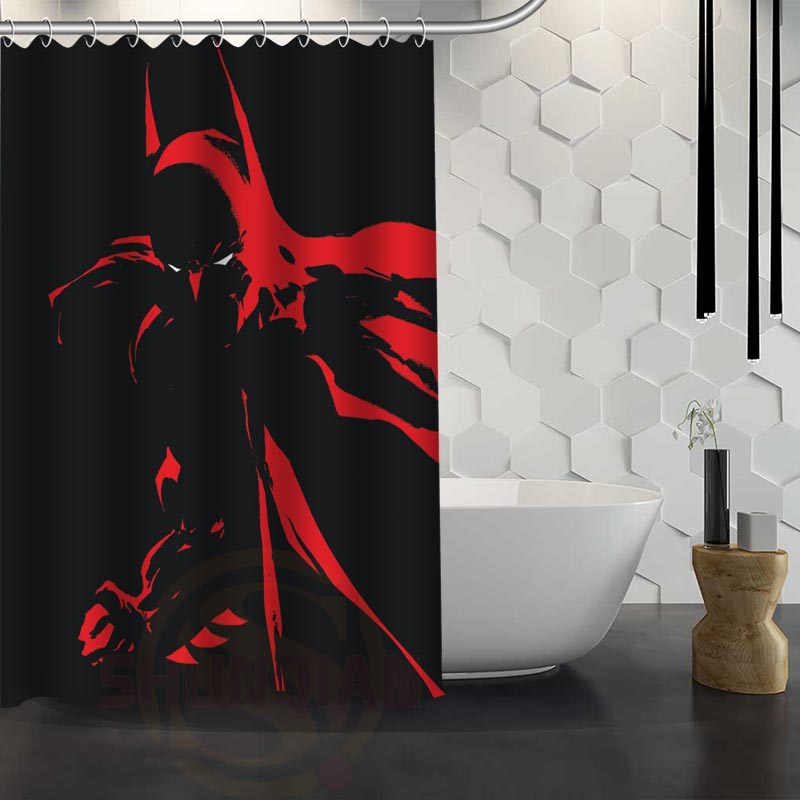 Aliexpress.com : Buy Hot Sale Custom Batman Shower Curtain Waterproof  Fabric Shower Curtain For Bathroom F#Y1 17 From Reliable Curtains Waterproof  Suppliers ...