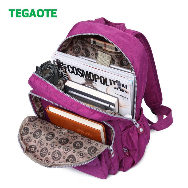 TEGAOTE Women Small Backpack for Teenage Girls Mini Backpacks Mochila Feminine Bolsa Casual Nylon Waterproof Bagpack Sac A Dos