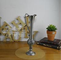 ヨーロッパレトロボトルシャップ金属合金花瓶小さなサイズ卓上金属花瓶植木鉢ホームデコレーションアクセサリーについてhp039
