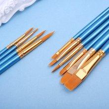 10 шт Акварельная кисть для рисования нейлоновая ручка волос