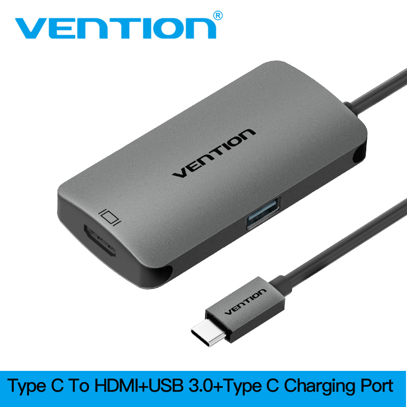 Vention USB Type C Hub to HDMI With USB C PD Type-c To USB 3.0 Converter Suppot 4K*2K for MacBook ChromeBook USB Type C HUB HDMI