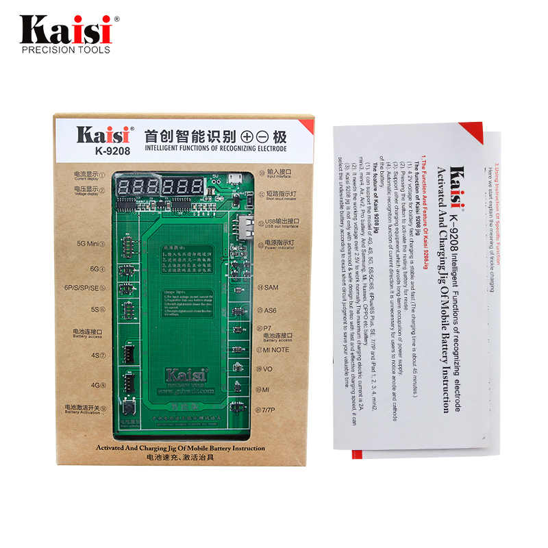 Kaisi 電話バッテリー活性化ボードプレート充電 USB ケーブル iPhone 4 用-8X 生体内 Huawei 社サムスン xiaomi 回路テスト