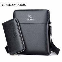 a1850c7b3bf YUES KANGOEROE 2017 NIEUWE Merk Mannen Tas Vintage Lederen Handtassen  Kleine Flap Mannen Crossbody Messenger Bags