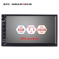 SMARTECH 2 Din Car Radio GPS Navigation Android 7.1 OS 2GB RAM 16GB ROM Quad Core Autoradio Support 3G WIFI OBD Bluetooth DAB