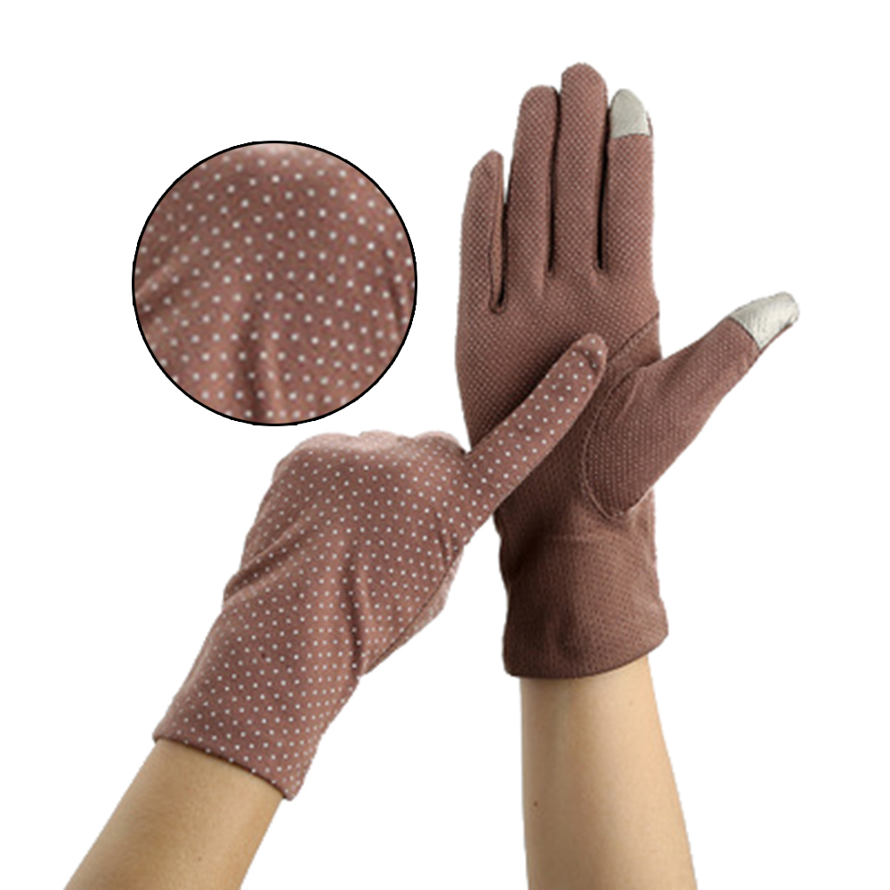 Summer Ladies Cycling Sun Protection Non-slip Lace Thin Gloves Cotton Touch Screen Gloves