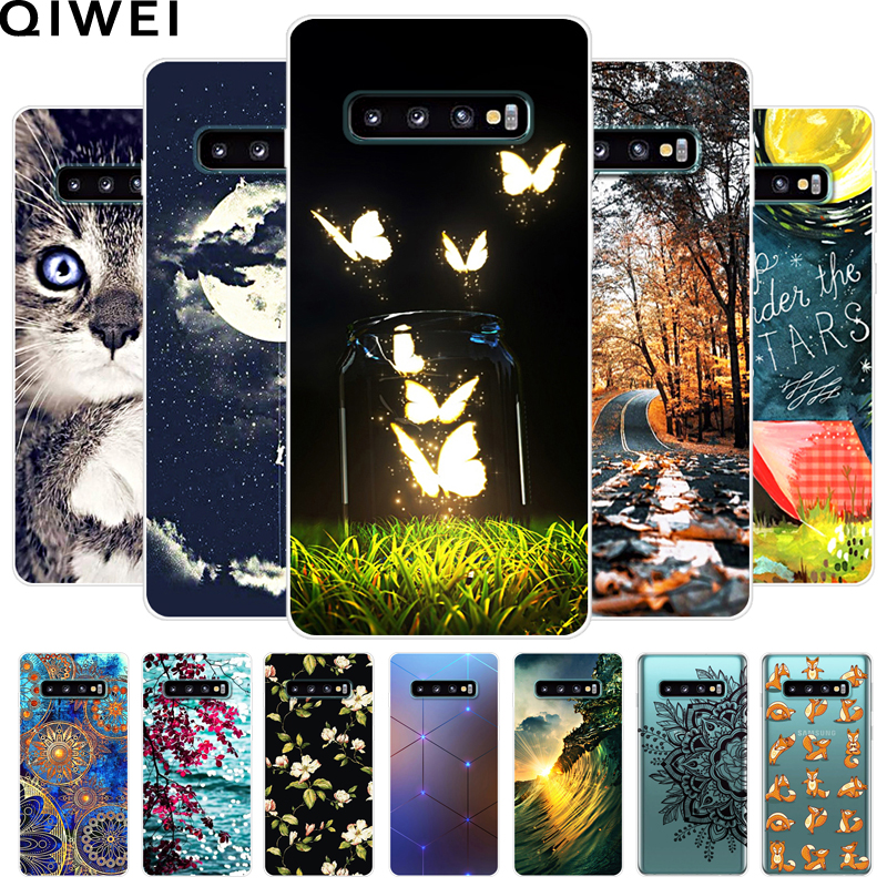 For Samsung S10 Plus Case Cartoon Printing Soft TPU Phone Back Cover For Samsung <font><b>Galaxy</b></font> <font><b>S10e</b></font> s 10 5G S10plus silicone Cases image