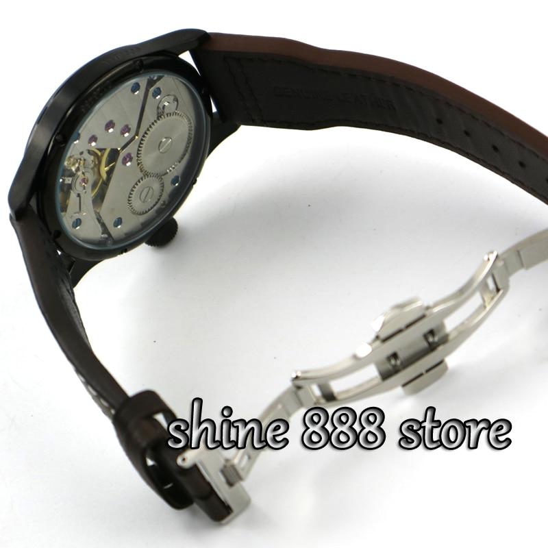 ad42af09f6 Alibaba グループ | AliExpress.comの 機械式時計 からの Parnisブラックダイヤル pvdケース展開クラスプ6497ハンドワインディングムーブメントメンズ腕時計 中の ...