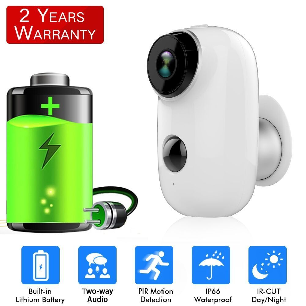 Sdeter Rechargeable Battery Wireless Ip Camera Wifi Weatherproof Outdoor Indoor Ip65 Cctv Security Pir