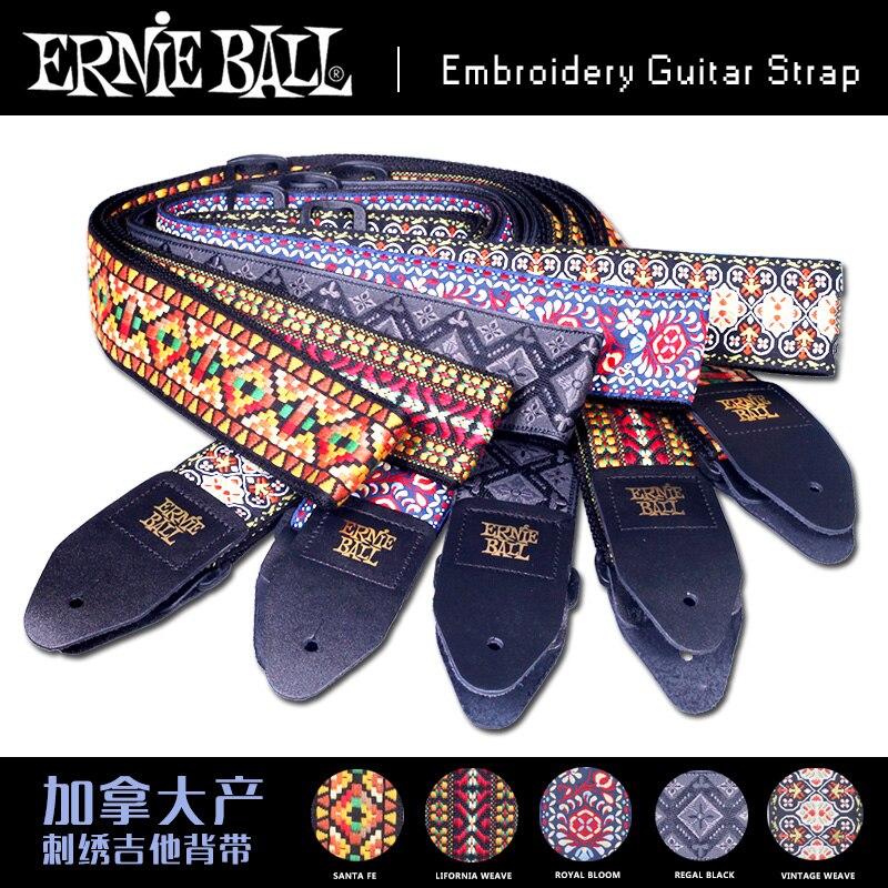 Ernie Ball classique Jacquard fait à la main en cuir brodé fin sangle de guitare