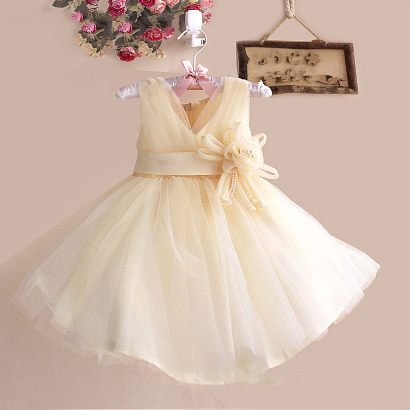 New cute childrens dress host European and American evening dress host festival costumes wedding dress girl dress dinner gift
