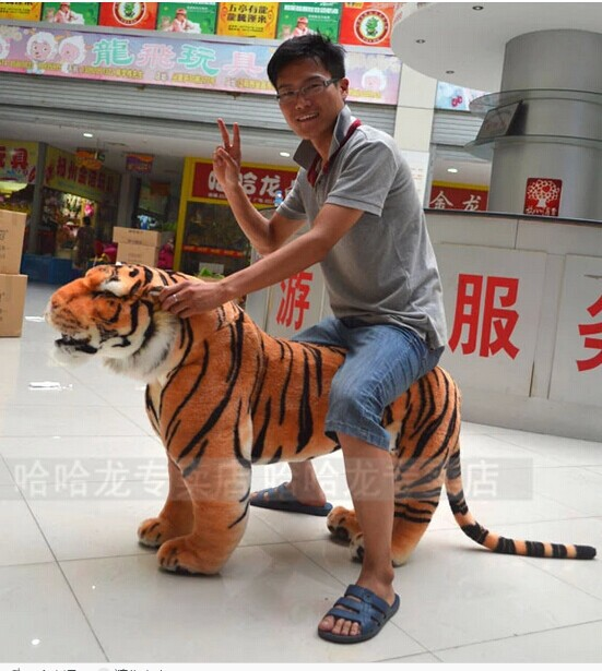Artificial animal 110x70cm simulation tiger plush toy creative birthday gift , party docreation d8032 stuffed animal 110cm plush tiger toy about 43 inch simulation tiger doll great gift free shipping w018