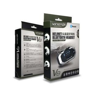 Image 5 - Vimoto auriculares estéreo V8 para motocicleta, 2 uds., 850mAh, multicasco funcional, Bluetooth, para radio bidireccional